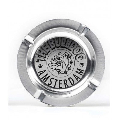 BULLDOG ASHTRAY SILVER