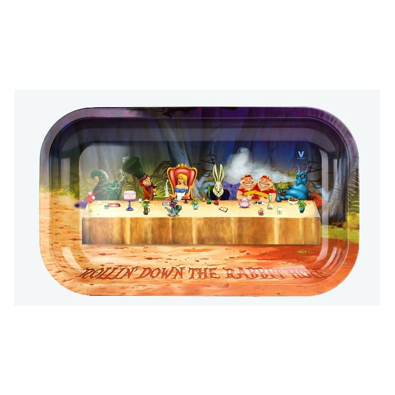 ROLLING TRAY ALICE ROLLIN DOWN THE RABBIT HOLE