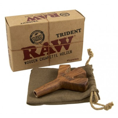 RAW WOODEN TRIDENT SIG HOLDER