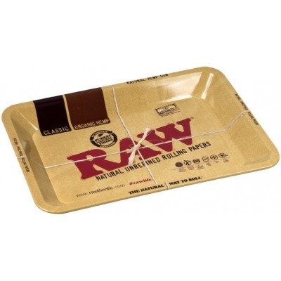 RAW METAL ROLLING TRAY SMALL 17.5X27.5 CM