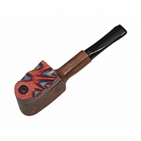 Wood Pipe, Coloured With Cap