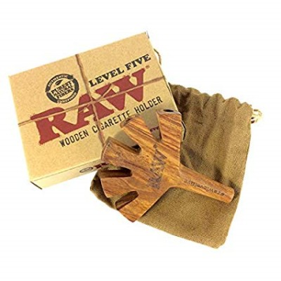 RAW WOODEN CIGARETTE HOLDER LEVEL FIVE