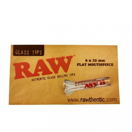 RAW GLASS TIP FLAT MOUTHPIECE
