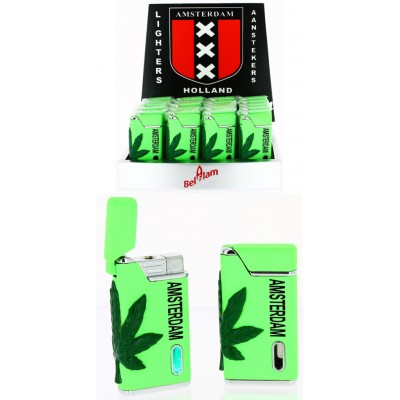 TURBO GREEN LIGHTER AMSTERDAM LEAF