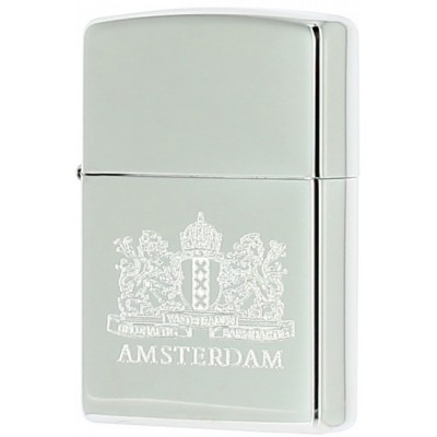 ZIPPO LIONS WEAPON AMSTERDAM CHROME POLISHED