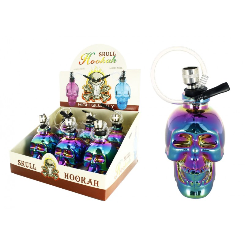 SKULL GLASS PIPE RAINBOW