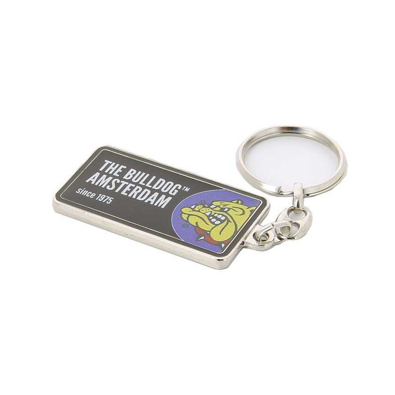 BULLDOG KEYCHAIN LICENSE PLATE