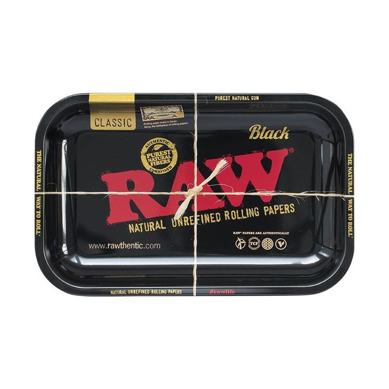 RAW BLACK ROLLING TRAY 27.5 X17.5CM