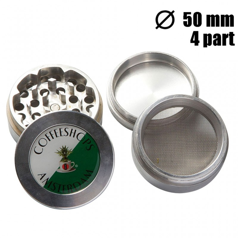 GRINDER COFFEESHOP 4 PARTS 50MM