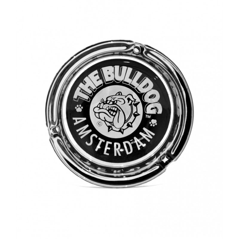 BULLDOG ASHTRAY GLASS 100MM